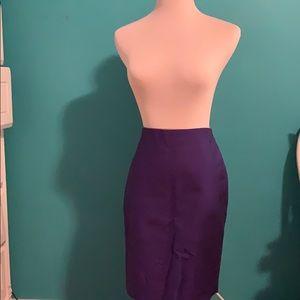 Purple J. Crew Pencil Skirt